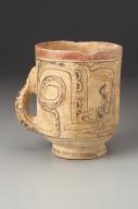Cylinder vase with handle