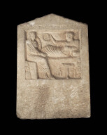 Stele with funerary banquet