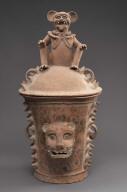 K'iché burial or cache urn lid