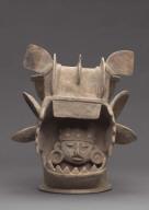 Bat effigy incense burner