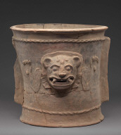 K'iché burial or cache urn base