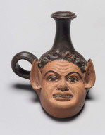 Guttus (lamp-filler) in the form of a satyr