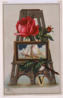"""Untitled (Easel with Rose, Sailboat, and the Letter """"V"""")"""
