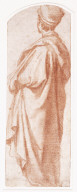 Standing Male Figure Wearing a Mantle (recto)