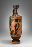 Attic Lekythos with Scene of a Man Pursuing a Woman