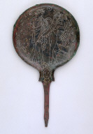 Mirror Engraved with Flute-Player