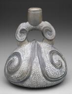 Stirrup-Spout Vessel: Scroll Ornament