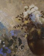 Flowers in a Black Vase