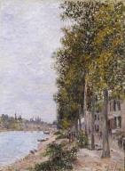 Road Along the Seine at Saint-Mammes