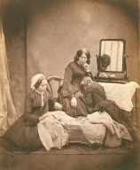 Study of mother and daughter mourning over deceased child