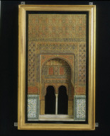 MODEL OF AN ARCH in the palace of the Alhambra