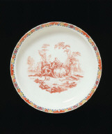 PLATE decorated with transfer-printing