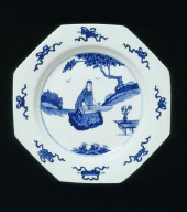 PLATE imitating Chinese porcelain