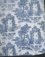 BED CURTAIN of plate-printed cotton