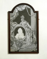 CUT-PAPER PICTURE of Britannia mourning Frederick, Prince of Wales