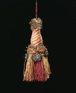 TASSEL with silver tufts