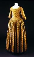 GOWN of block-printed cotton