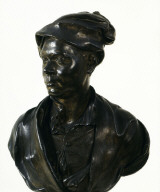 BUST of an unidentified man, perhaps an author