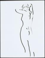 Standing Nude Bas-Relief Positive