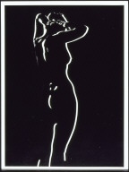 Standing Nude Bas-Relief Negative