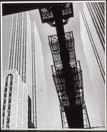 Rockefeller Center, The RCA Building Reflected in Shop Window, New Yor OTTTitle