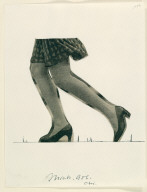 Notebook Page: Study for a Colossal Sculpture of a Woman's Legs, Walking, for Michigan Avenue, Chicago