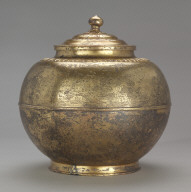 Covered Cinerary Jar with Scenes from the Western Paradise (cover)