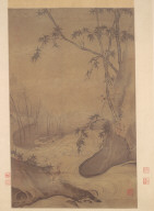 Bamboo and Ducks by a Rushing Stream