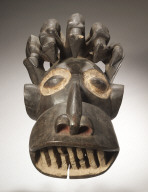 Monkey Mask with Leopards on Top