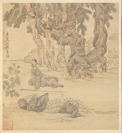 Paintings after Ancient Masters: Portrait of Chung-ch'ing in a Landscape