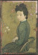 [Portrait of Eva Meurier in a Green Dress, Portrait d'Eva Meurier en robe verte]