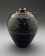 Jar (Guan) with Floral Scrolls