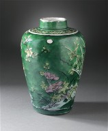 Jar (Ping) with Orchids, Camellias, and Magnolias