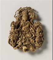 Finial (Shi) with a Bodhisattva (Pusa) and Attendants