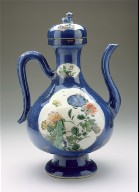 Lidded Ewer (Zhihu) with Lion and Floral Panels