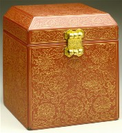 Seal Box (Yinhe) with Lotus Scrolls and the Eight Buddhist Symbols (Bajixiang)