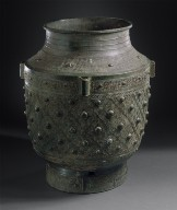 Ritual Wine Storage Jar (Zun) with Dragons, Lozenges, and Triangles
