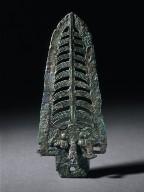 Dagger Axe (Kui) with Masks, Cicadas, and Bird
