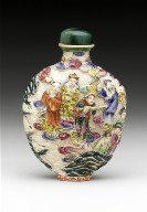 Snuff Bottle with Figures