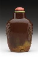Snuff Bottle (Biyanhu) with Mock Mask Handles