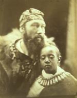 Allegory: Dejátch Alamayu and Báshá Félika (Prince Alamayu, Son of Emperor Theodore of Abyssinia, with Captain Tristram Speedy)