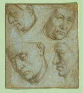 Four Heads (after Details from the Ghent Altarpiece)