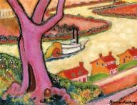 Purple Tree and Ohio River Steamboats