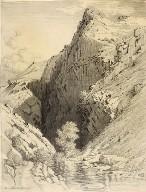 Untitled (transfer drawing for Bear Creek Canyon, Denver, Colorado)