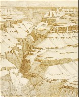 Untitled (transfer drawing for Grand Canyon [no. 1])
