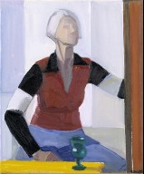 Self-Portrait with Yellow Table