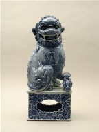 Fo Dog on Base (Buddhist Lion, One of a Pair)