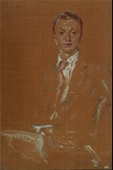 Whitney Warren, Jr. seated image in sepia tones