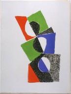 Frontispiece, Abstract Illustration in the book Juste present (Paris: La Rose des Vents, 1961)