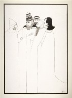 Les juifs (The Jews), from a series of drawings based on scenes from the play, Salome by Oscar Wilde